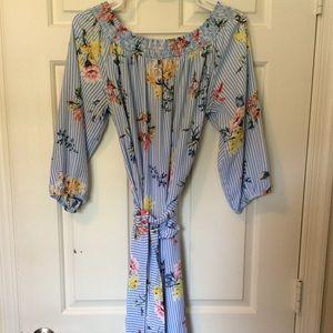 Spense Floral Off Shoulder Dress Size XL